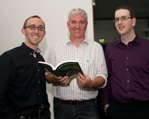 Con Murphy with the authors of Tallaght Time