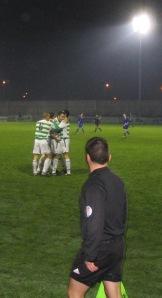 Andy Myler celebrates scoring in Limerick