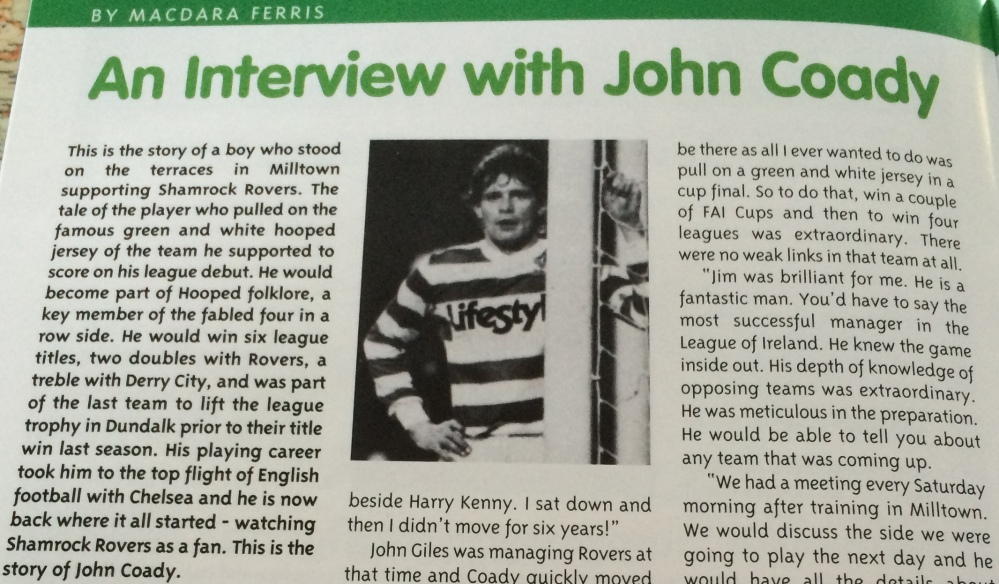 From fan to player to fan - Interview with four in a row winner John Coady (1/3)